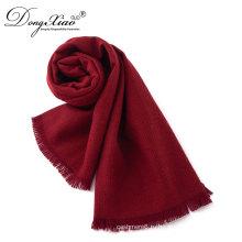 OEM Выдвиженческий женщин шарфы на продажу Красный 100% Мериносовая шерсть шарфы