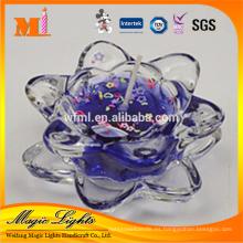 Vela perfumada de la cera del gel de la calidad superior en candelero de cristal