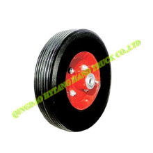 "10"" solid wheel with metal rim"