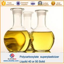 Adhésif en béton Polycarboxylate Superplastifiant liquide 40% 50% solide