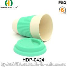 Taza de fibra de bambú de alta resistencia respetuosa del medio ambiente (HDP-0424)