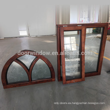 Marco de la ventana con vidrio tallado Casa barata Ventanas de madera de roble para la venta