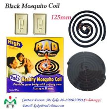 Eco-Friendly Smokeless Mosquito Negro repelente bobina de incenso