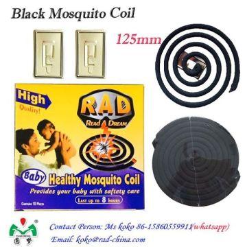 Eco-Friendly Smokeless Mosquito Negro repelente bobina de incenso