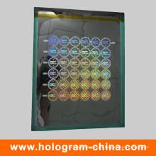 Mestre holográfico a laser com matriz de segurança DOT