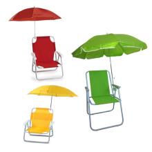 Crianças confortáveis que dobram a cadeira de praia com guarda-chuva (SP-141)