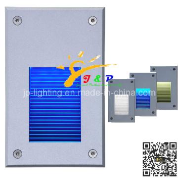 2W Алюминиевая наружная настенная лампа IP65 Утопленный светодиодный шаговый фонарь (JP819207)