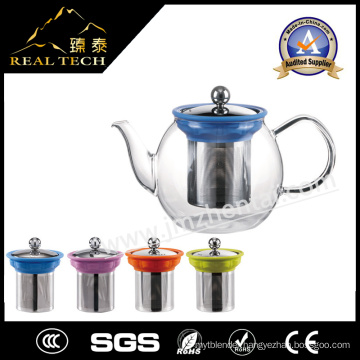 High Quality Round Glass Tea Pot with Infuser