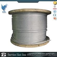 AISI 304 Le prix d'usine de la corde en acier inoxydable en plastique