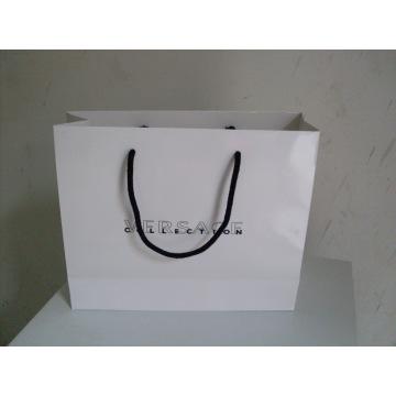 Bolsa de papel com alça para embalagem e promoção