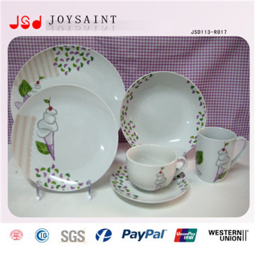 Custom Design China Style Ceramic Dinner Dishware Plate for Daily Usage