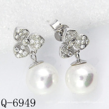 2015 Latest Styles Cultured Pearl Earrings 925 Silver (Q-6949)