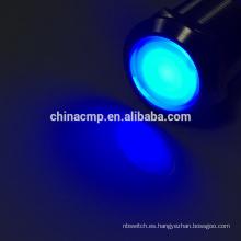 12v 24v 220V El anillo azul del ojo de águila llevó el interruptor de botón automotriz iluminado suave del coche de la luz suave
