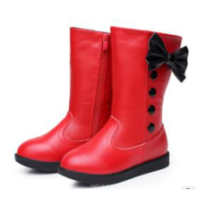 latest fashion kids children girl red knee high boots shoes