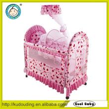 Novo modelo de design bebê berço conjunto de cama
