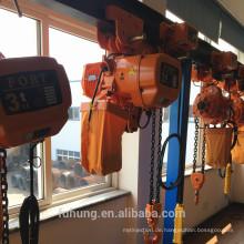 CE-Zertifikat Mini kleine Leichtbau 3ton elektrische Hebekette Kette