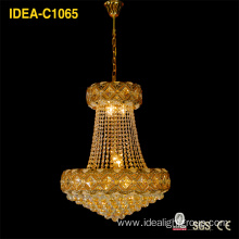 Cheap PriceList for Offer Classical Crystal Pendant Light, Crystal Pendant Light, Chandelier Lighting from China Supplier European traditional yellow crystal chandelier living room lamp bedroom led lamp room lamp supply to United States Factories