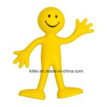 Bendables amarelos dos homens do sorriso de Hotsale, brinquedos dobráveis de DIY