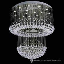 Iluminación moderna de la gota de lluvia Iluminación accesorio de la bola de cristal colgante- 92027