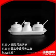 Souper de fine porcelaine Chine 8,25 pouces set salière en gros