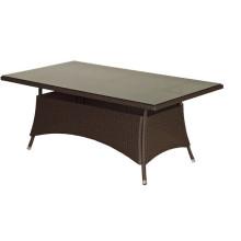 Table de jardin en osier résine Patio extérieur meubles rotin Rectangle