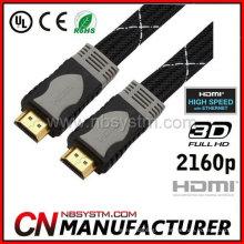 Double câble de couleur à plat câble HDMI