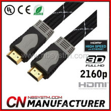 Fio de HDMI plano de molde de cor dupla