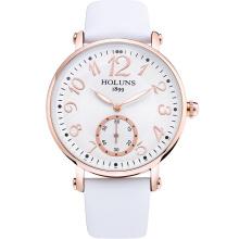 2016 Art und Weise große Vorwahlknopf-wasserdichte Quarz-beiläufige Frauen-Uhr, Saphir-Edelstahl-spezielles Liebes-Geschenk für Mädchen-Dame