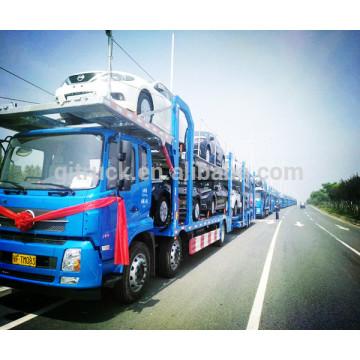 8 unidades 2 plataformas camión del transportador del vehículo del coche camión / carro del portador de coche / remolque del transporte del portador de coche