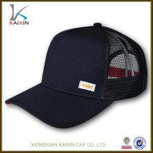Casquette de baseball de maille de mode de coton de 100% / 5 chapeaux de camionneur de panneau / casquette de maille de camionneur de snapback vide