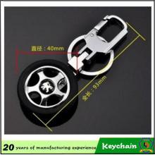Porte-clés métal pneumatique avec Logo personnalisé voiture