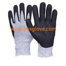 Cut Resistant Glove, Nitrile Work Glove,