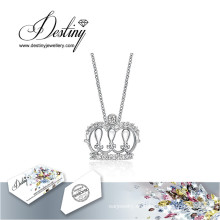 Destino joyería cristal de Swarovski collar corona nueva