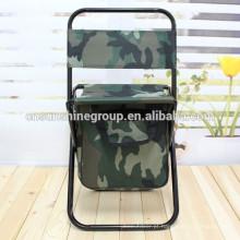 Frame de aço cadeira de pesca com saco