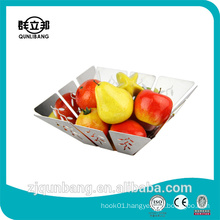New Square Style Stainless Steel Fruit Basket/Fruit Tray/Kitchen Basket