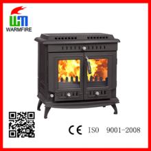 CE y EN13240 Aprobado real fabricación de hierro fundido chimenea de madera