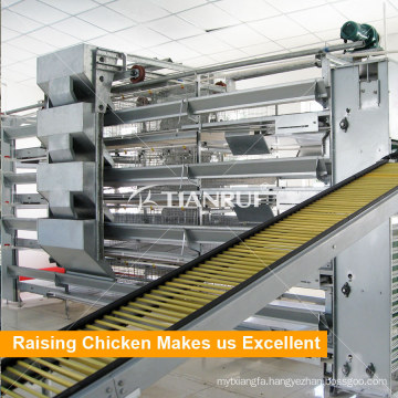 Automatic H Frame Tianrui 4 Tiers Battery Cage Laying Hens