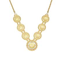 Collier en or 18 carats turc rempli de 18 chaînes, collier en plaqué or 18k or massif de bijoux