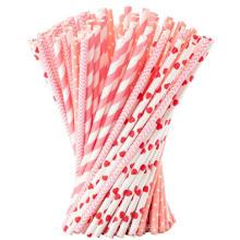 Pajitas de papel de alta calidad a color de alta calidad a la medida del papel rayado biodegradable, pajitas para beber de papel al por mayor