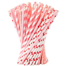 Food Grade Custom high quality Color Striped paper straws biodegradable,wholesale paper drinking straws