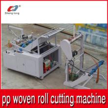 Machine de découpe automatique China Supplier pour plastiques PP Tissé en tissu à rouleaux