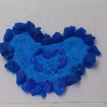 Камень или синий кристаллический порошок медного купороса