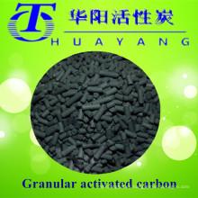 Filtro de carbón activado en columna de valor de yodo de 4 mm 1000