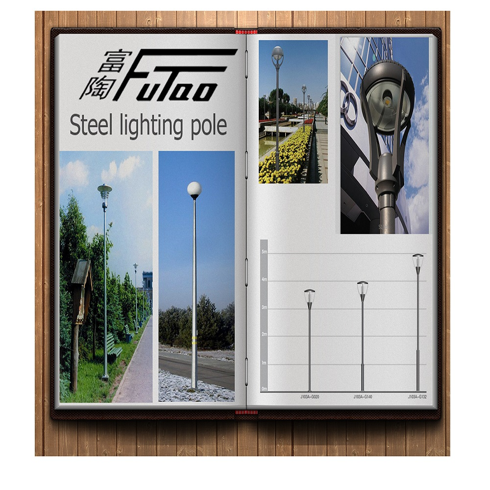 Galvanized City roads lighting pole