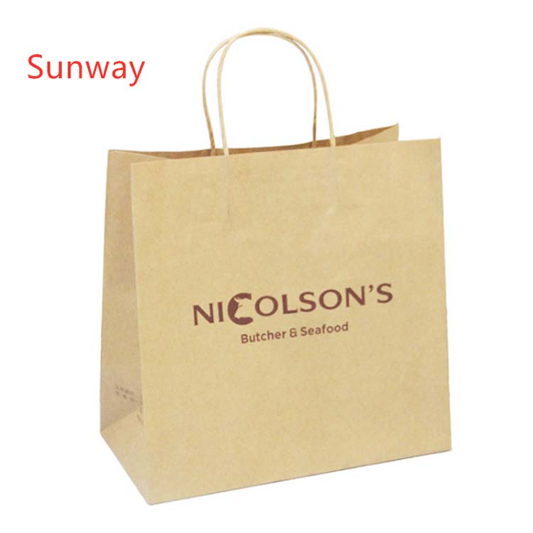 Custom Printed Kraft Bags for Restaurant