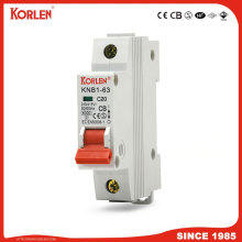 KORLEN new type mini circuit breaker 1A-63A MCB 6KA capacity with CE CB SEMKO SIRIM