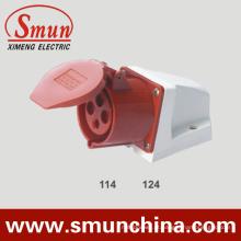 Plugue elétrico e soquete de 16 / 32A 4pin 3p + E Cee
