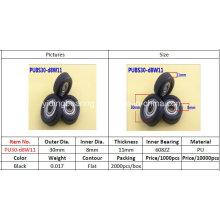 Incidence de roue couverte en nylon d'incidence intérieure 608zz 30 * 8 * 11 utilisée pour des meubles