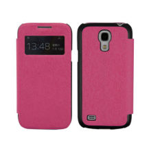 Hot Selling Smart Touch Window PU Leather Cases for Samsung Galaxy S4 Mini/i9500, OEM/ODM Factory