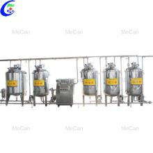 Línea de producción de máquina de pasteurizador de leche
